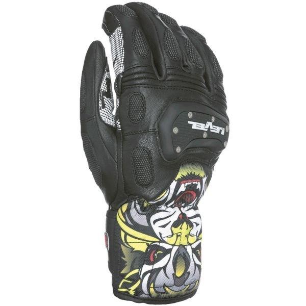 Černé pánské lyžařské rukavice Level