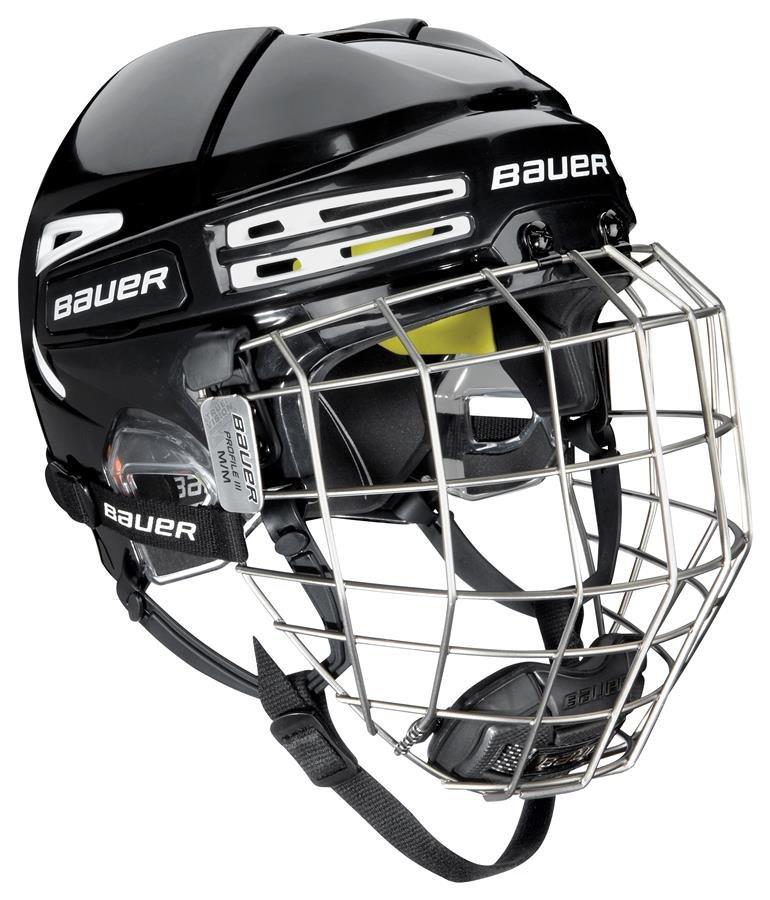 Hokejová helma - Combo Bauer RE-AKT 75 BLK/WHT Velikost: S