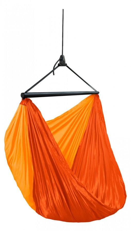 Oranžové závěsné houpací křeslo LA SIESTA
