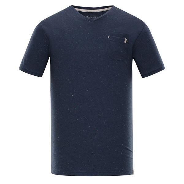 Modré pánské tričko s krátkým rukávem Alpine Pro