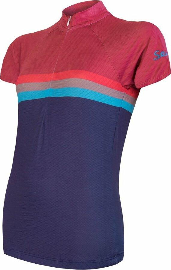 Fialovo-modrý dámský cyklistický dres Sensor