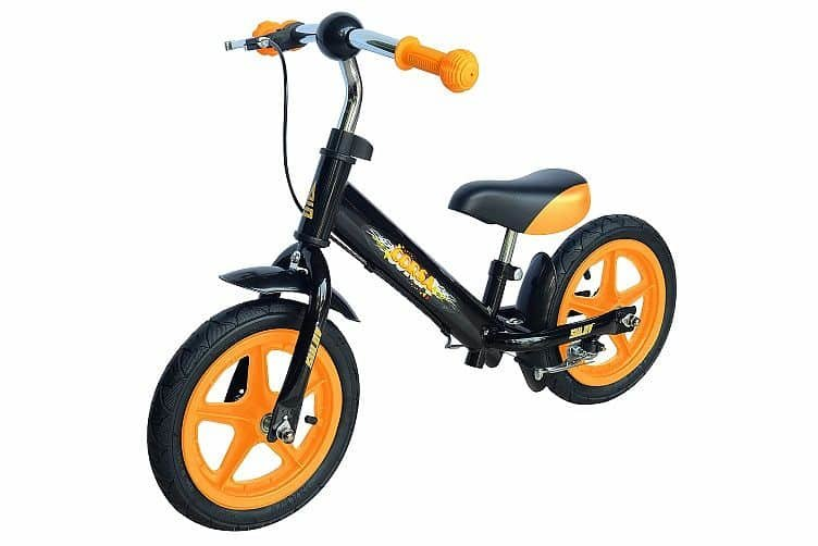 Černo-oranžové dětské odrážedlo Sulov