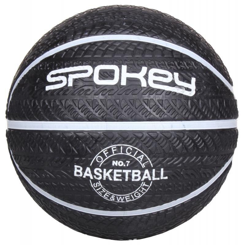 Bílo-černý basketbalový míč Magic, Spokey - velikost 7