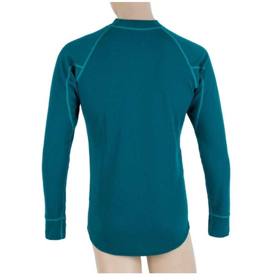 Modré pánské funkční tričko s dlouhým rukávem Sensor - velikost XXL
