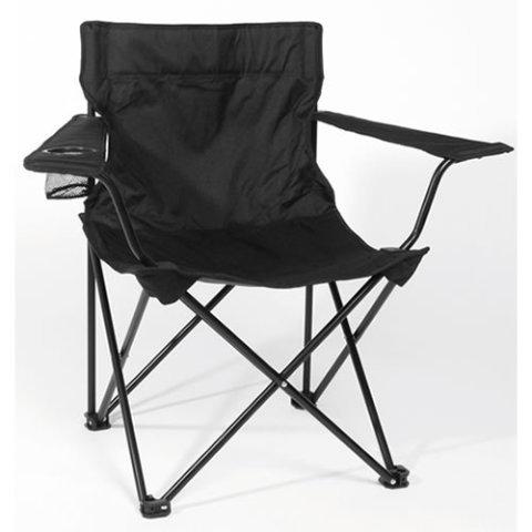 Kempingová židle - Křeslo RELAX skládací ČERNÉ