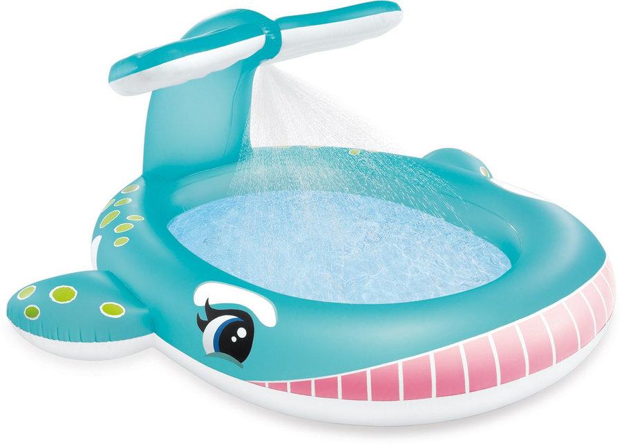 Dětský nafukovací nadzemní oválný bazén INTEX - délka 201 cm, šířka 196 cm a výška 91 cm