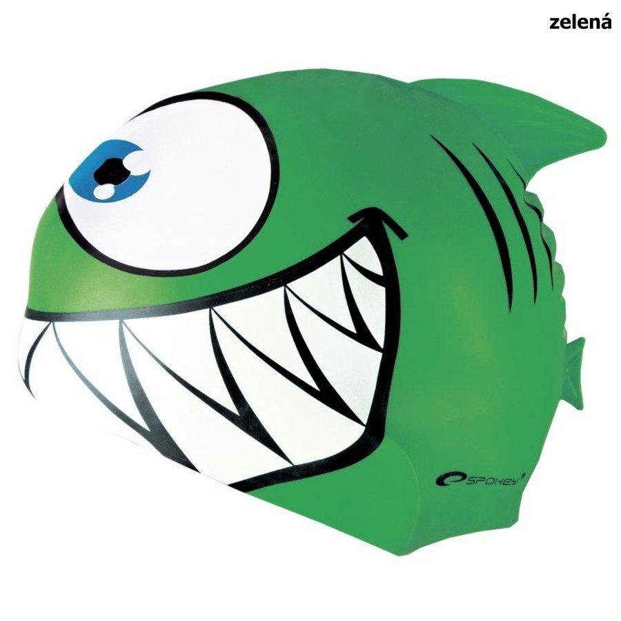 Zelená dámská nebo pánská plavecká čepice REKINEK MAKO, Spokey