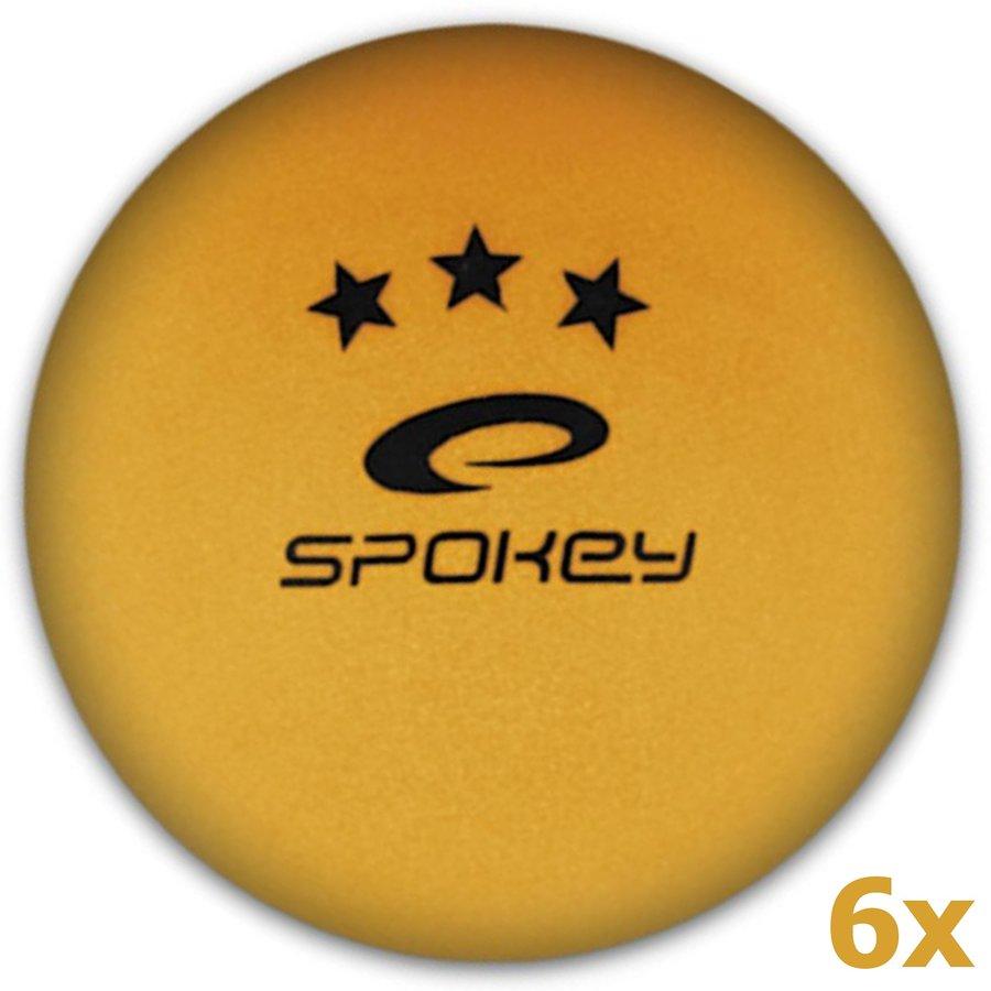 Oranžový míček na stolní tenis Spokey - 6 ks