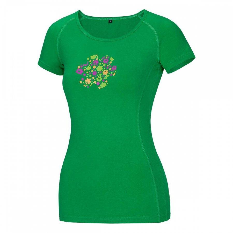 Zelené dámské turistické tričko s krátkým rukávem Ocún