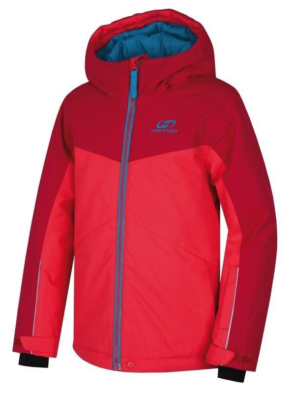 Červená dětská lyžařská bunda Hannah - velikost 128