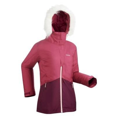 Fialová dámská lyžařská bunda Wed'ze