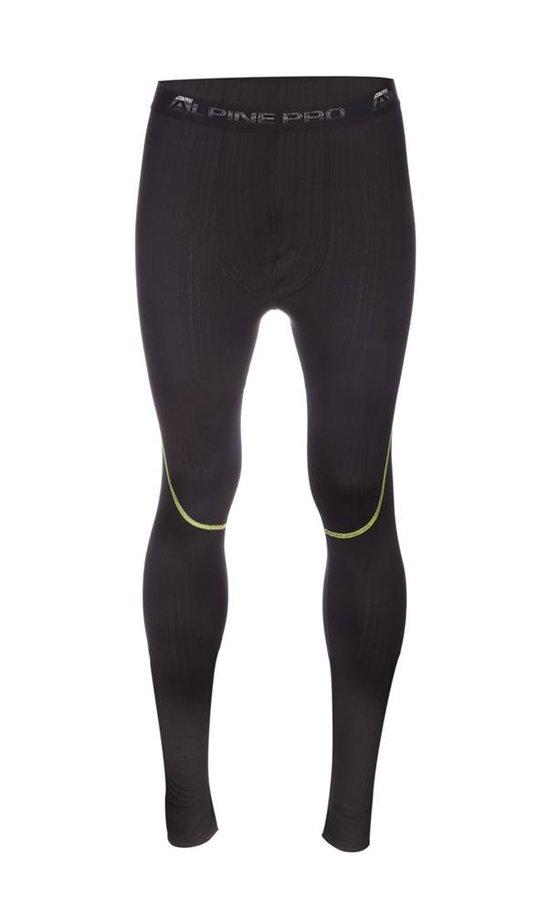 Černé pánské funkční kalhoty Alpine Pro