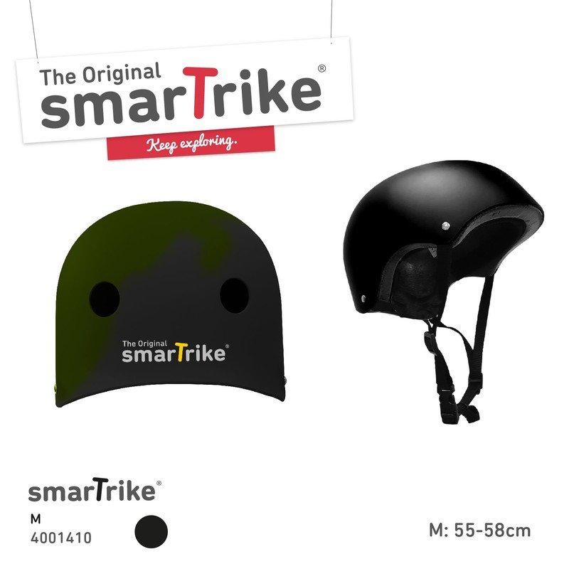 Cyklistická helma - SMART TRIKE - Dětská přilba, M - černá