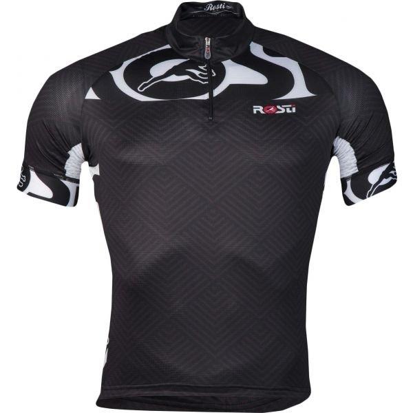 Černý pánský cyklistický dres Rosti