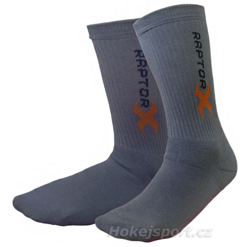 Šedé hokejové ponožky Siltex, Raptor-X - velikost 30-32 EU