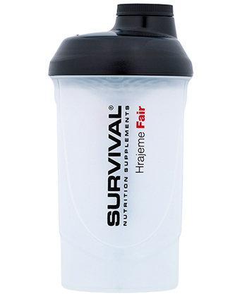 Bílý shaker Survival - objem 600 ml