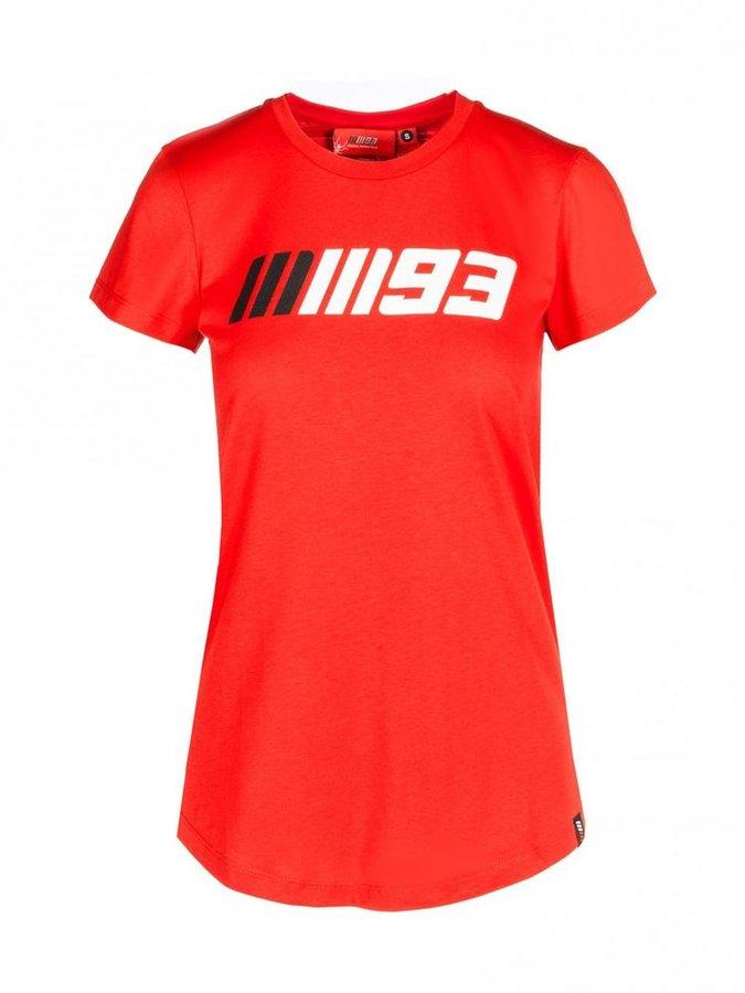 Červené dámské motorkářské tričko s krátkým rukávem Marquez