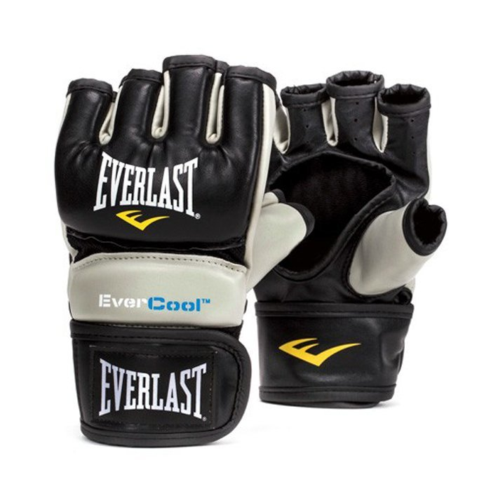 Černo-šedé MMA rukavice Everlast - velikost L-XL