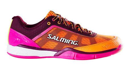 Oranžovo-růžové dámské sálová obuvi Viper 4, Salming