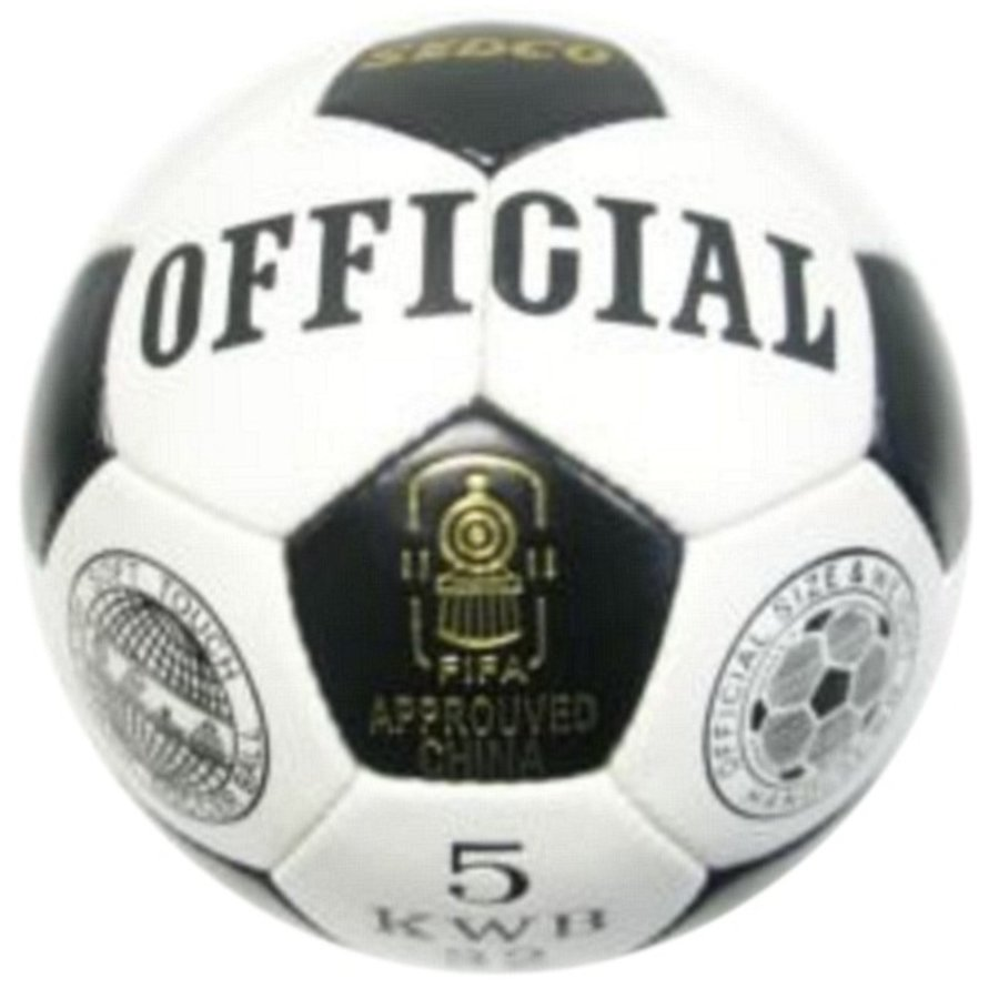 Bílo-černý fotbalový míč Sedco - velikost 5
