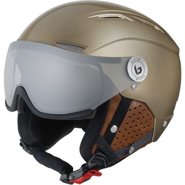 Béžová lyžařská helma Bollé - velikost 56-58 cm