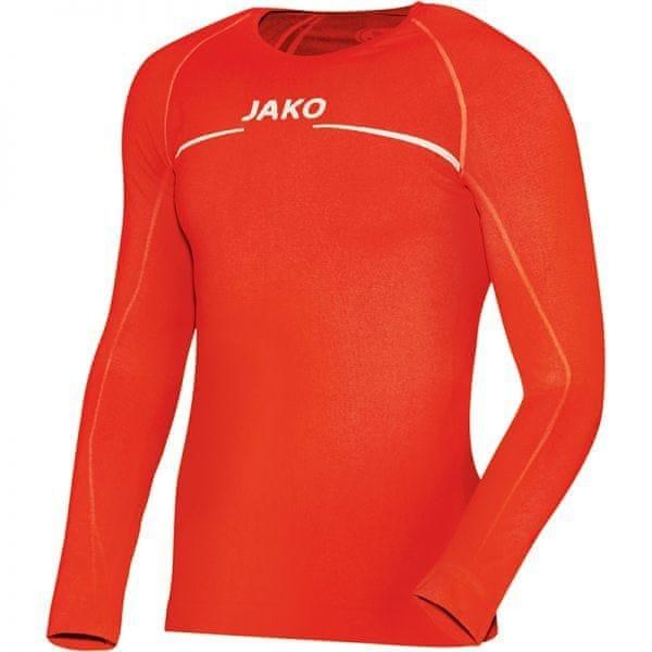 Oranžové basketbalové tričko s dlouhým rukávem Jako