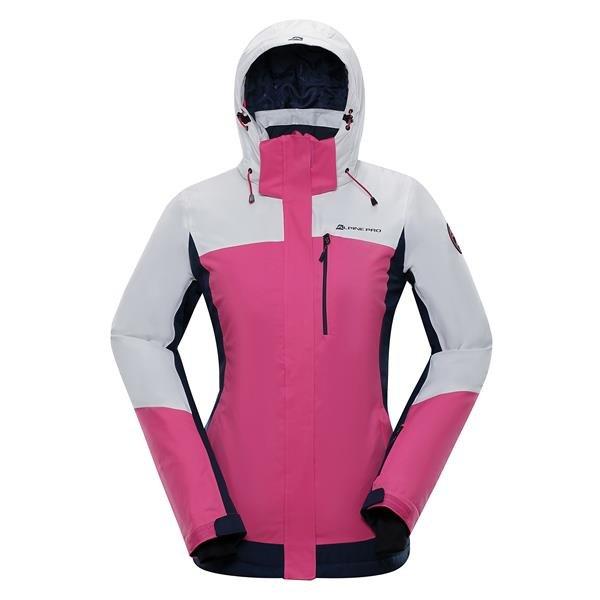 Růžová zimní dámská bunda s kapucí Alpine Pro - velikost L