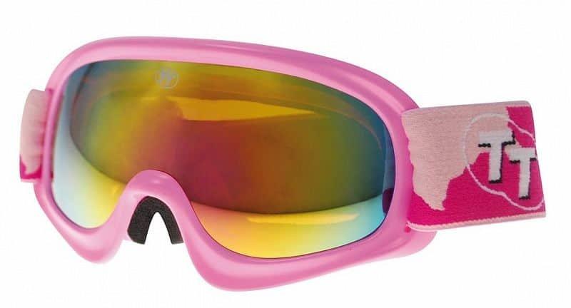Růžové dětské lyžařské brýle TT-Blade