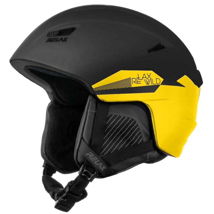Černo-žlutá lyžařská helma Relax