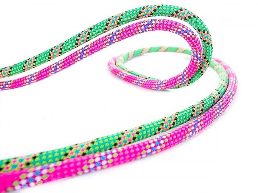 Růžové horolezecké lano Beal - průměr 8,6 mm