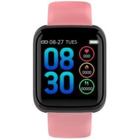 Růžový fitness náramek C36, Cube