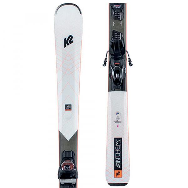 Bílé dámské skialpové lyže s vázáním K2