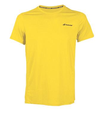 Žluté dětské chlapecké tenisové tričko Babolat - velikost 140