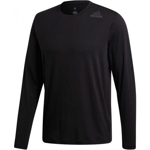 Černé pánské tričko s dlouhým rukávem Adidas - velikost XL