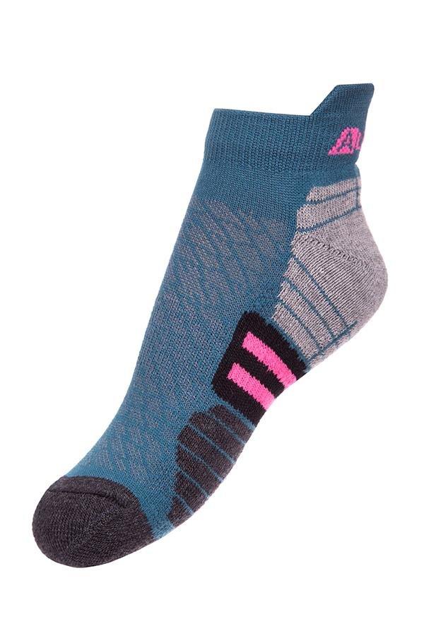 Modré dětské kotníkové ponožky Alpine Pro