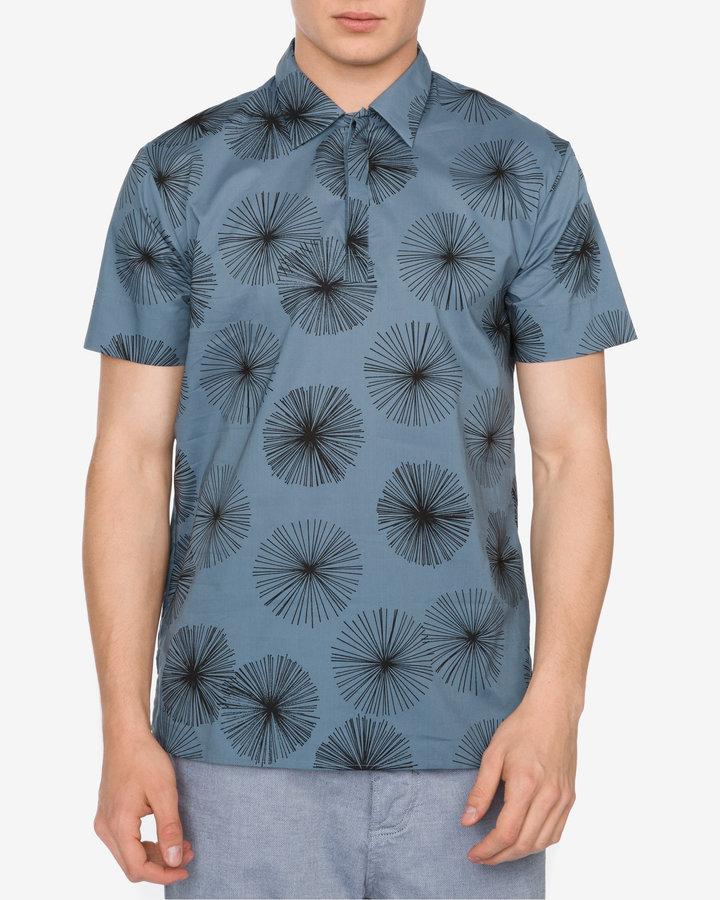 Modrá pánská košile s krátkým rukávem Antony Morato - velikost S