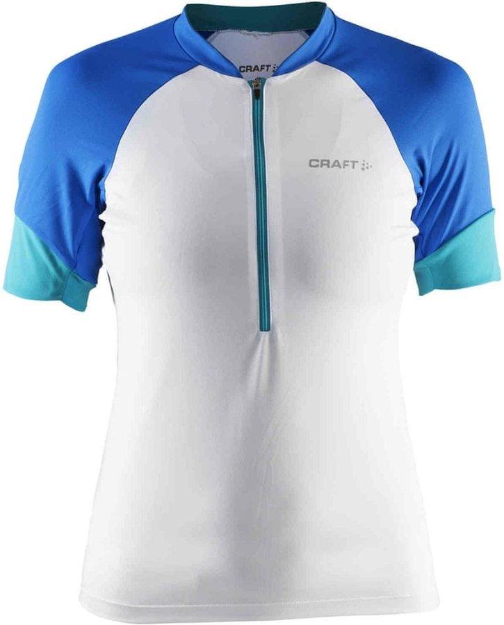 Bílo-modrý dámský cyklistický dres Craft
