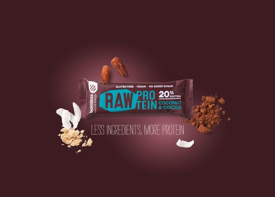Protein - Bombus Raw Protein 20% 50 g Coconut&Cocoa
