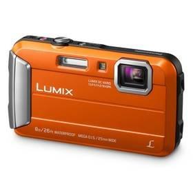 Oranžový outdoorový fotoaparát DMC-FT30EP-D, Panasonic