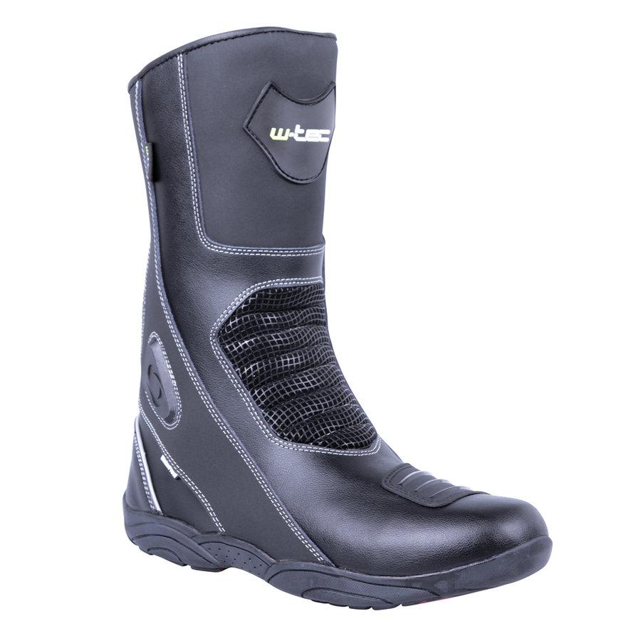 Černé vysoké pánské motorkářské boty Wurben NF-6050, W-TEC