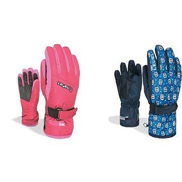 Růžové dívčí lyžařské rukavice Level