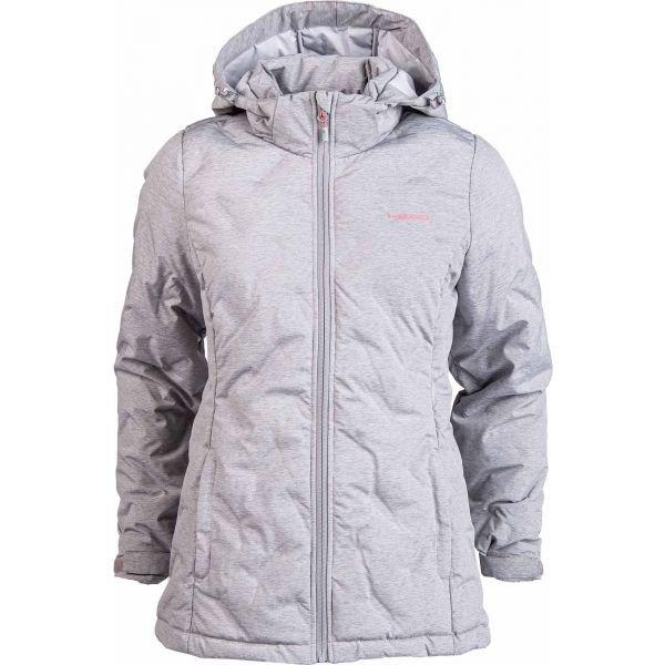 Šedá zimní dámská bunda s kapucí Head