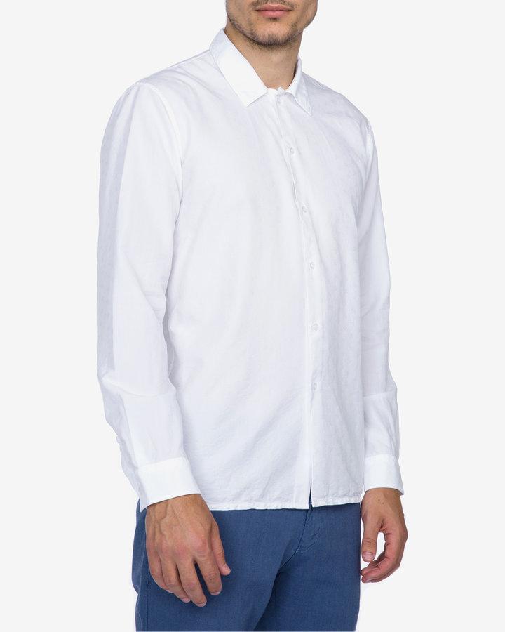 Bílá pánská košile s dlouhým rukávem Just Cavalli - velikost M
