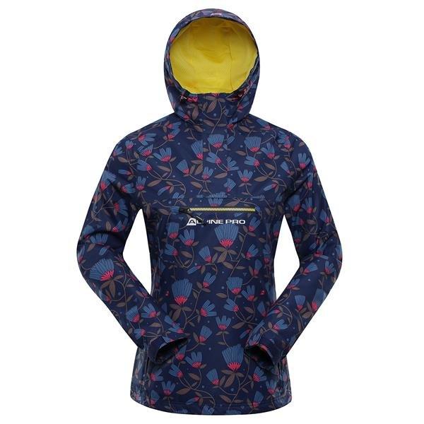 Modrá nepromokavá dámská bunda s kapucí Alpine Pro
