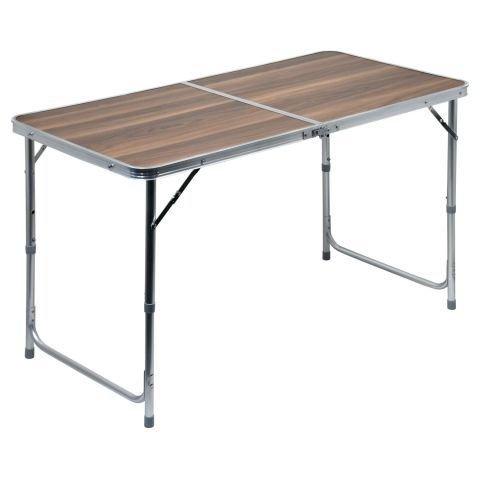 Kempingový stůl - Stůl skládací kempingový - deska umakart imitace dřeva