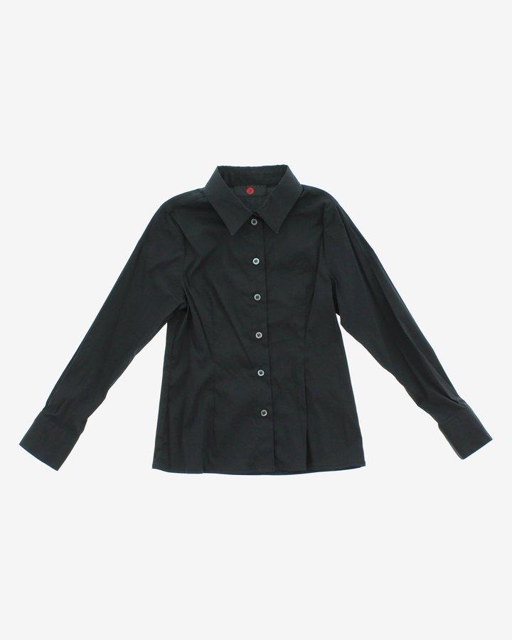 Černá dívčí košile s dlouhým rukávem John Richmond - velikost 116