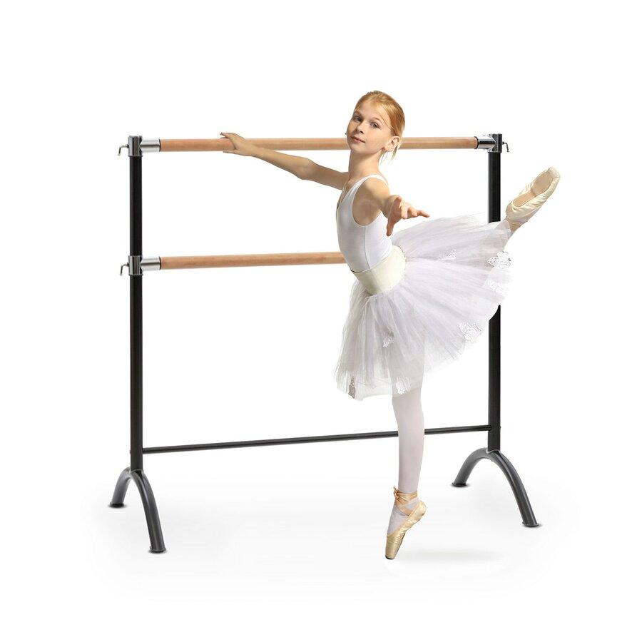Baletní tyč - KLARFIT Barre Anna, dvojitá baletní tyč, volně stojící, 110x113, 2x38cm