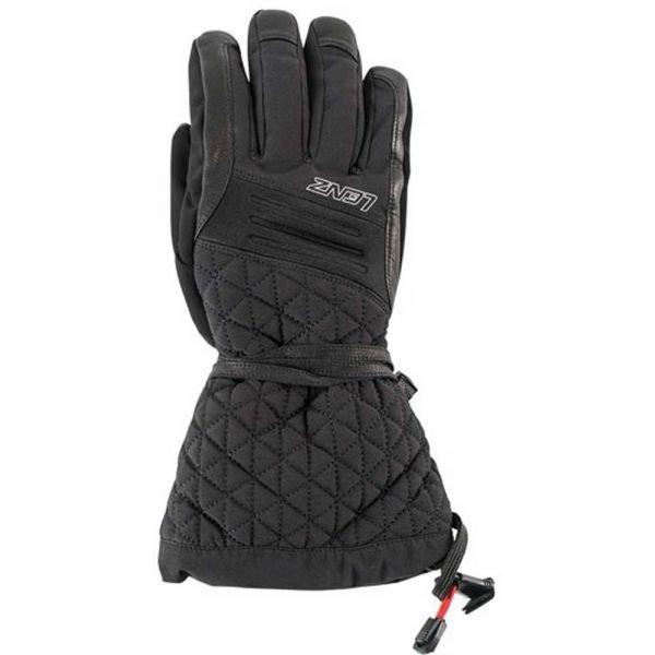 Černé dámské zimní rukavice s vyhříváním Lenz