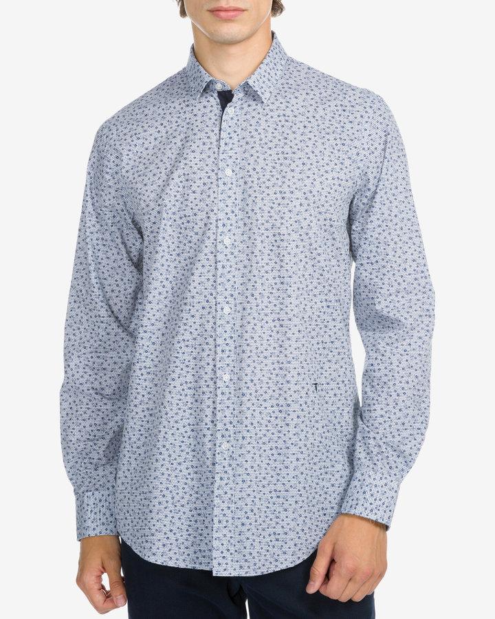 Bílo-modrá pánská košile s dlouhým rukávem Trussardi Jeans - velikost 41