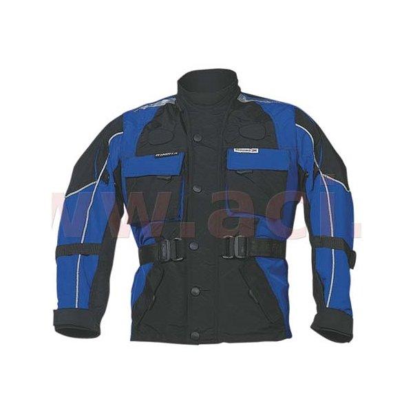 Černo-modrá dámská motorkářská bunda Taslan, Roleff